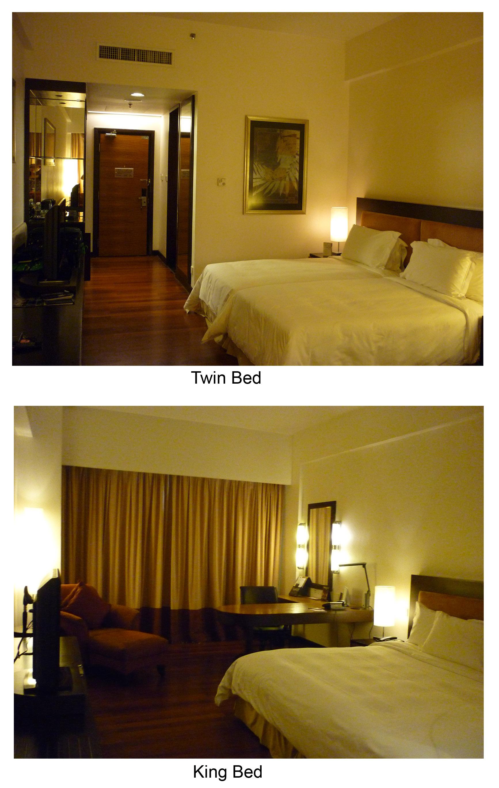 Twin Bed Hotel Room: IMPIANA KLCC HOTEL, Kuala Lumpur (Comparison Between